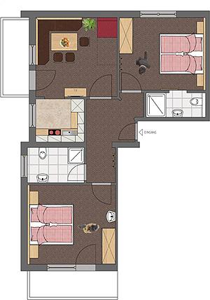 landhaus sailer kappl ischgl paznaun wohnung 3. Black Bedroom Furniture Sets. Home Design Ideas